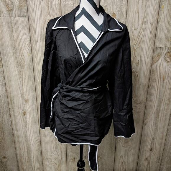 2b170a32223b2 Jones New York Tops - Jones new york signature wrap blouse plus size